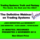 Trading System Webinar -  Jake Bernstein and Genesis/FT - Non-Client Price