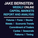 Jake Bernstein: Weekly Capital Markets Report and Analysis - Audio / Visual Edition   3-Week Free Trial